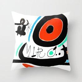 Joan Miro, Joan Miró i Catalunya, 1968 Artwork for Wall Art, Prints, Posters, Tshirts, Men, Women, Youth Throw Pillow