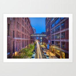 Sky Bridge Over NYC Art Print