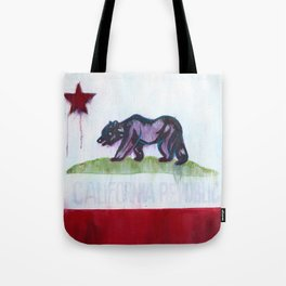 California Flag Painting Tote Bag