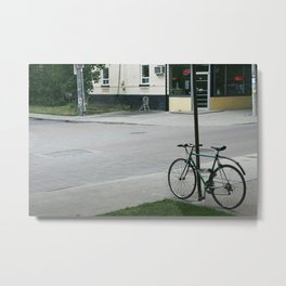 vintage city bike Metal Print
