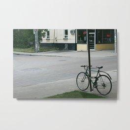 vintage city bike Metal Print