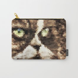 Painted angry looking persian cat head Carry-All Pouch