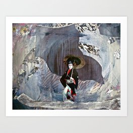 Out of the Cave, Into the Storm, the Hero Prepares for the Next Battle Art Print