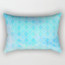 Liquid blue Moroccan print Rectangular Pillow