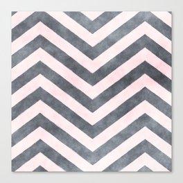 Geometrical mauve gray pink watercolor pattern Canvas Print