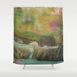 Deep Forest Cabin Shower Curtain