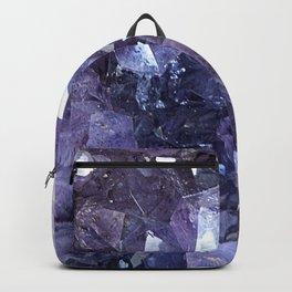 Amethyst Crystal Cluster Backpack