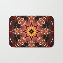 Kaleidoscope fantasy on lights in the shape of a bison! Bath Mat