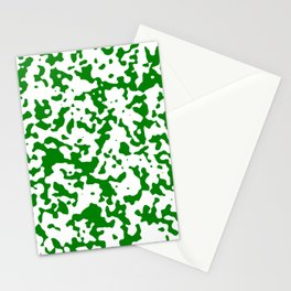 Spots - White and Green Stationery Cards