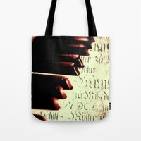 piano Tote Bags featuring piano by Falko Follert Art-FF77