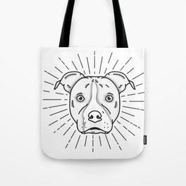 Radiant Dog Print - Black and White Tote Bag