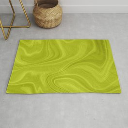 Chartreuse Swirl Marble Rug