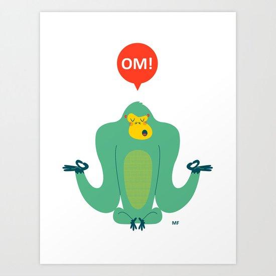 OM! Gorilla Art Print