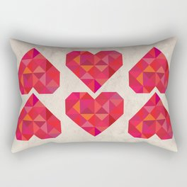 Heart geometry Rectangular Pillow