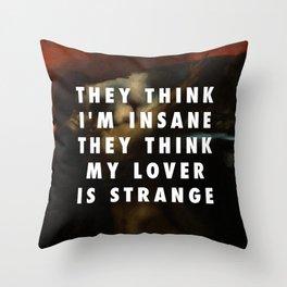 Franz von Stuck, The Kiss of the Sphinx (1895) / Halsey, Strange Love (2015) Throw Pillow