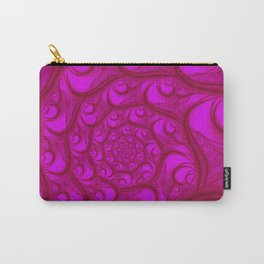 Fractal Web Red on Pink Carry-All Pouch