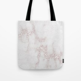 Marble Pattern Silver Rosé Tote Bag