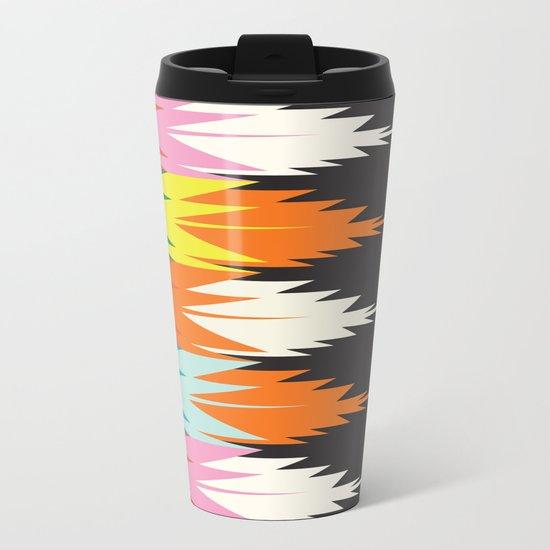 American Native Pattern No. 8 Metal Travel Mug