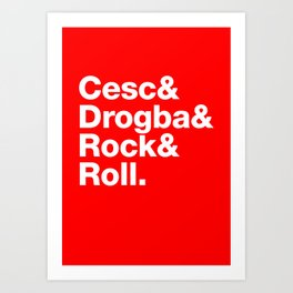 Cesc & Drogba & Rock & Roll Art Print
