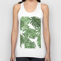 palms Tank Tops featuring Monstera Deliciosa by Laura O'Connor