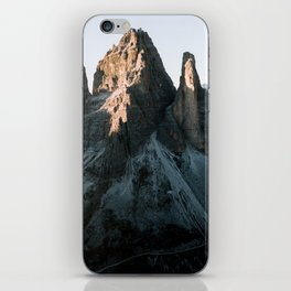 Tre Cime in the Dolomites Mountains at dusk - Landscape Photography iPhone Skin