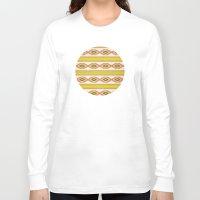 navajo Long Sleeve T-shirts featuring Navajo Pattern by Nxolab