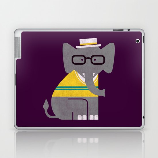 Rodney the preppy elephant Laptop & iPad Skin
