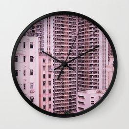 Hong Kong Pink City Wall Clock