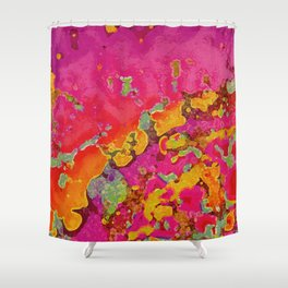 Pink And Gold Geode Abstract Shower Curtain