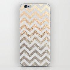GOLD & SILVER CHEVRON iPhone & iPod Skin