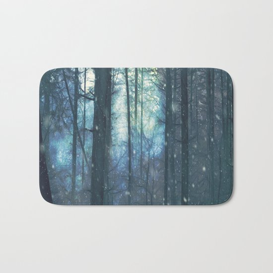 The Woods In Winter Bath Mat