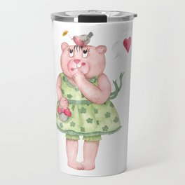 Bear girl Travel Mug