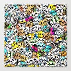 Gemstone Pugs Dogs Canvas Print