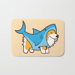Corgi in a Shark Suit Bath Mat