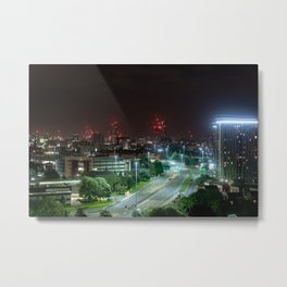 Manchester at night Metal Print