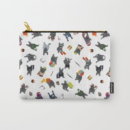 Gray Frenchie's luxury life pattern  Carry-All Pouch