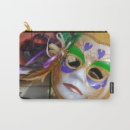 New Orleans Mardi Gras Mask Carry-All Pouch