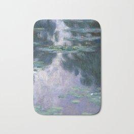 monet water lilies colorful Bath Mat
