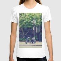 vespa T-shirts featuring Vespa by thirteesiks