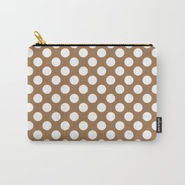 Brown and white polka dots Carry-All Pouch