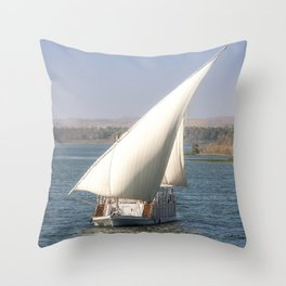 Nile Cruising Throw Pillow