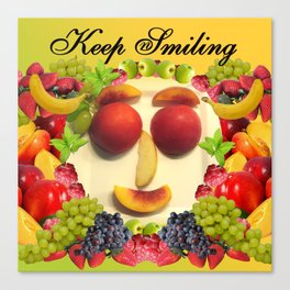 Keep Smiling! Canvas Print