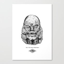 The creature of black lagoon Canvas Print