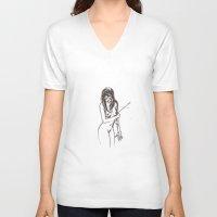 arrow V-neck T-shirts featuring arrow by flaviolina
