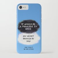 tfios iPhone & iPod Cases featuring TFIOS Quote #2 by Jerry Maestas