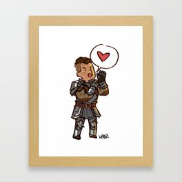 Tiny Krem loves YOU Framed Art Print