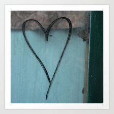 Heart Graffiti Art Print