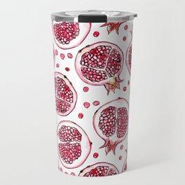 Pomegranate watercolor and ink pattern Travel Mug