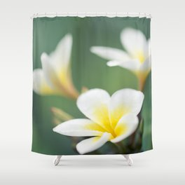 in the happy garden Shower Curtain