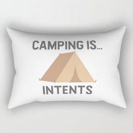 Camping is Intents Rectangular Pillow